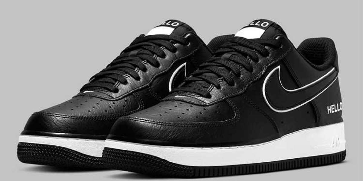 """Nike Air Force 1 Low """"Hello"""" Black/White 2021 New Arrival CZ0327-001"""