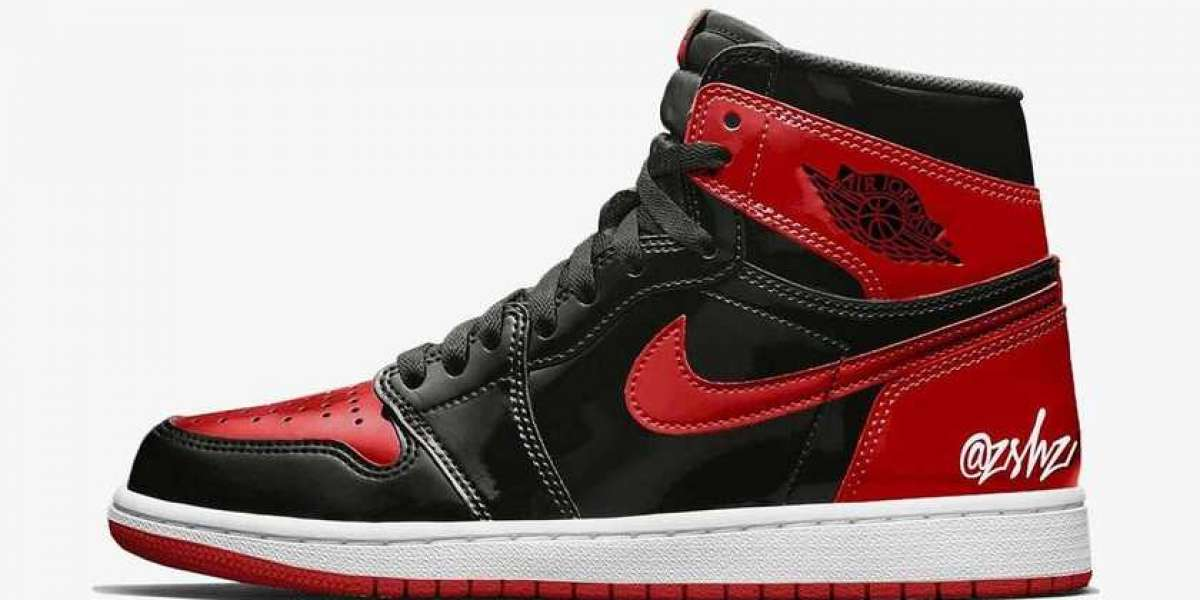 """555088-063 Air Jordan 1 High OG """"Bred Patent"""" will debut in October this year"""